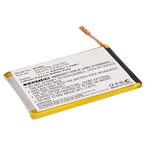 subtel Batteria Premium Compatibile con Apple iPod Touch 4 Gen. - A1367 (930mAh) 616-0550,616-0551,GB-S10-314363-0100,616-0552 Batteria di Ricambio, accu Sostituzione, sostituto