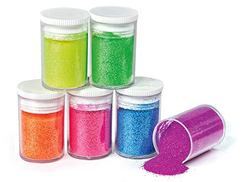 Glitter 6er-Set,'Neon' 6 x 4g