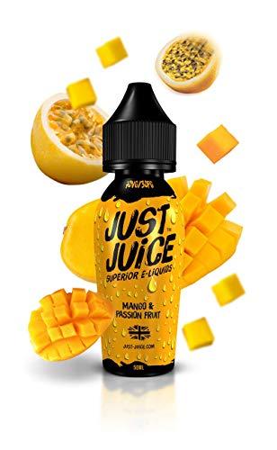Just Juice Mango Passion Fruit 50ml 0mg Shortfill E-Liquid | Rich Tasting 100% Authentic Juice | Nicotine Free 0%