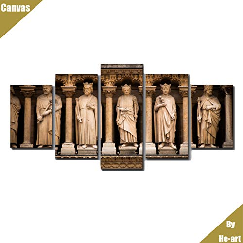 5 Panel gerahmte leinwand gedruckt malerei Notre Dame de Paris Bild Kunstwerk Sofa wandkunst Foto...