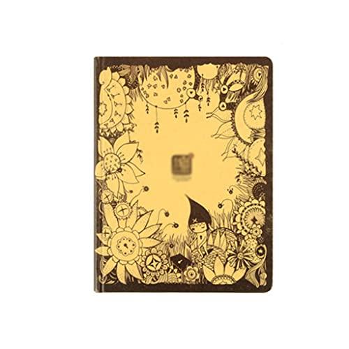 WPBOY Cuaderno retro A5 de viaje portátil 360° creativo doble cubierta diseño papelería diario cuaderno regalo (162 hojas)