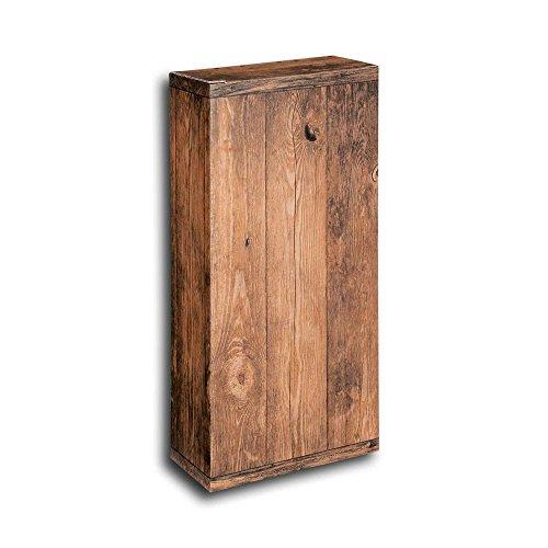 50x 2er Weinkarton, Geschenkkarton, Weinfaltkarton Vintage, 16,2x7,8x36,3 cm