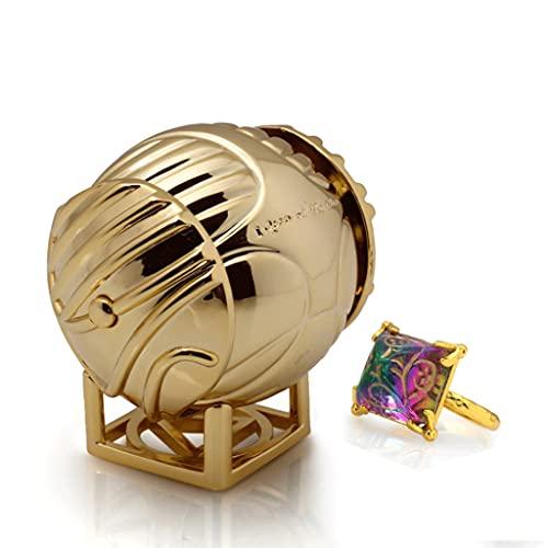 FOLA joyero Cajas para Caja de joyería Creativa Caja de Anillo de Snitch Golden, Titular de Anillo para propuesta Ceremonia de Boda Regalo de cumpleaños Decoración del hogar Regalo Ideal para Mujeres