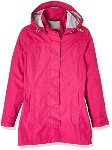 CMP Damen Regenjacke Woman Rain Jacket Button Hood 39X6646 Geranium 38