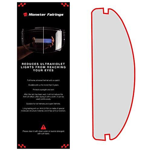 Monster Fairings UV Protection Visor Shield for Motorcycle Helmet Insert