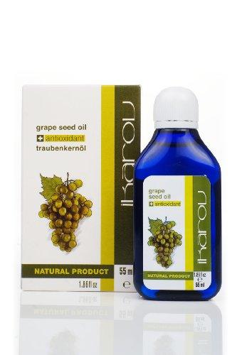 Ikarov Aceite facial de semilla de uva para piel grasa a normal 55 ml