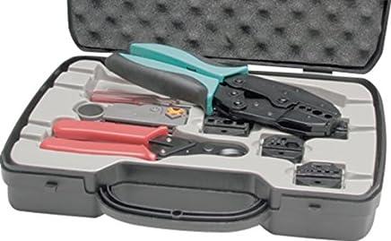 Crimpzangen-Set für Koaxial-Stecker Koaxial-Stecker, Komplettes Set Besteehend aus praktischer Box mit (973977011399) B07BL33QPS | Großer Verkauf