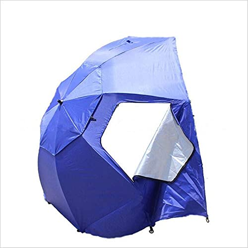 NHLBD LIJIANZI Worth having - Angled Shade Canopy Umbrella,Outdoor Outing Fishing Beach Tent,Portable All-Weather Sun Umbrella for Optimum Sight Lines at Sports Events (Color : Blue)
