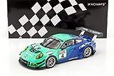 MINICHAMPS-Porsche-911/991 Gt3 R-Van 2017 Voiture Miniature de Collection, 155176904, Vert/Bleu