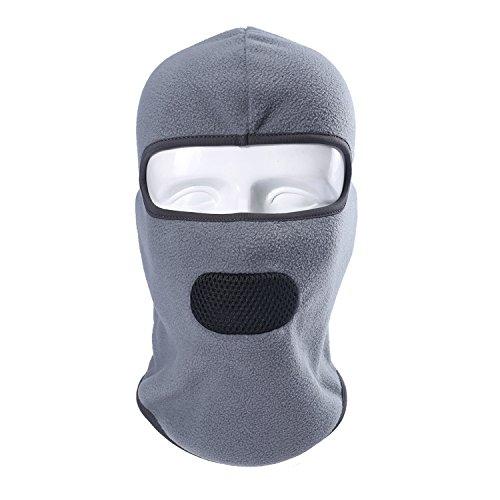 Your Choice Fleece Balaclava Neck Warmer Hood Windproof Face Mask Keep Warm for Winter Sports and Outdoor Activities Grey