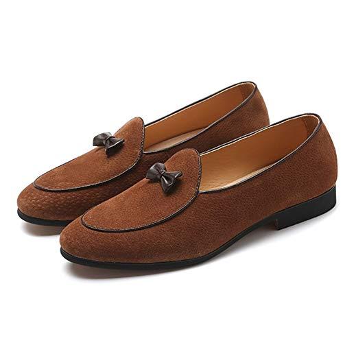 Cicongzai Classic Oxford voor mannen roken Loafers Slip op echt leer puntige teen boog Decor anti-slip blok hak rubberen zool effen kleur schoenen