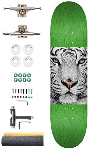 Mini Logo Tijger Ogen Aangepaste Complete Pro Skateboard Kit - 8.25