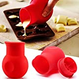 Safe material: The chocolate melting pot made of food-grade safe silicone is very suitable for melting butter, cheese and chocolate in a microwave oven. Unique design: The microwave chocolate melter has a removable lid and a pourable lip, allowing yo...