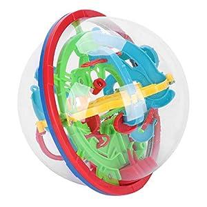 Labyrinth Ball 3D Kugellabyrinth Kinder Kinderspielzeug Spielzeug Jungen Mädchen Geschicklichkeitsspiel 100 Etappen Puzzle Ball Lernspielzeug Kugelspiel Kinderspiel für Geburtstag Weihnachten
