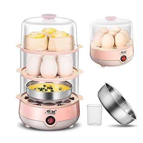 Egg CookerThree Layer Egg Steamer 21 Eggs Capacity Household Multi-FunctionalElectric Egg Boiler Auto Shut Function Suitable for Boiled Eggs Hard Boiled Bread Dumplings Vegetables