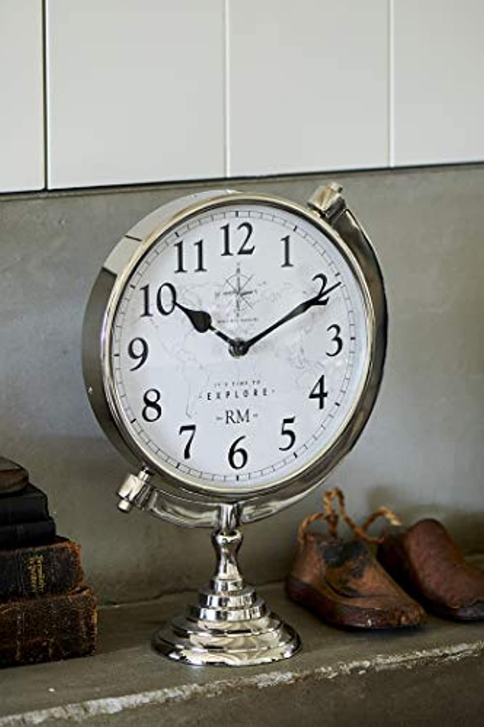 Riviera Maison Time to Explore Clock, Standuhr D22x10,31