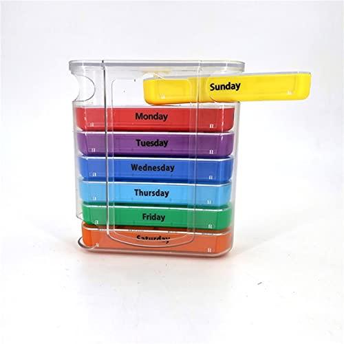 Akaid Scatola portapillole settimanale, Scatola portapillole a 28 Scomparti Scatola portapillole Portatile in plastica per medicinali