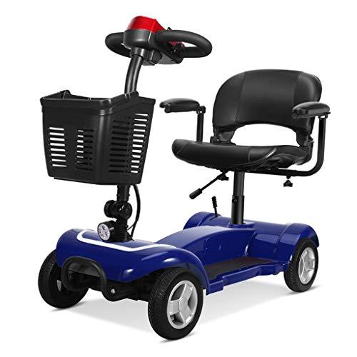 LLDS Scooter eléctrico minusválido, 4 Ruedas, para Adultos, Desmontable, Manillar Plegable Patinete...