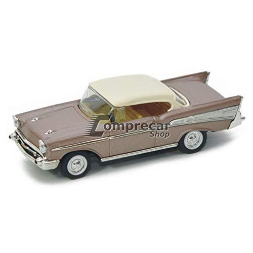 Miniatura Chevrolet Bel Air 1957 Marrom Yat Ming 1/43