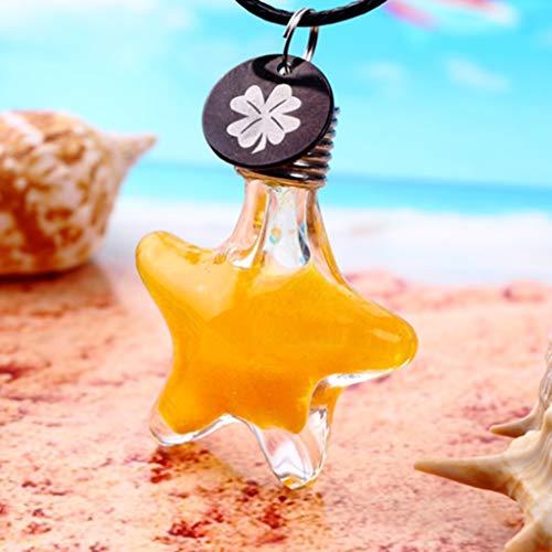 ネックレス星飾りレディースペンダントベネチアンチェーンストームグラス首飾りプレゼントギフトXIFOTE(Yellow)