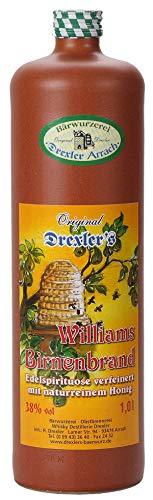 Williams Birnen Brand, Edelspirituose verfeinert mit naturreinem Honig, Original Drexler Arrach, 1l.