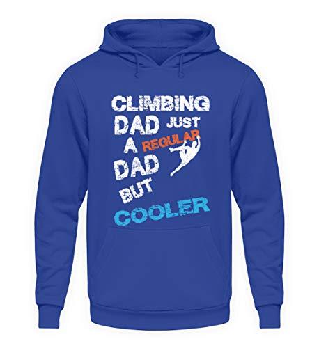 generisch Climbing Dad Kletter Papa Klettern Kletterausrüstung Bouldern Sportklettern Kletterhalle - Unisex Kapuzenpullover Hoodie -3XL-Royalblau