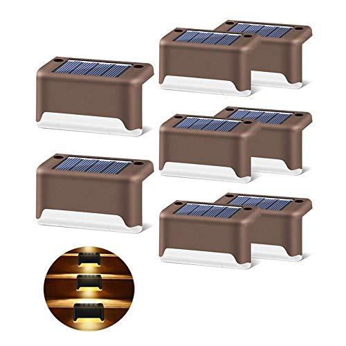 8pcs Solar Deckleuchten, wasserdichtes Outdoor Motion Solarlicht Solar Bühnenlichter LED Outdoor Solarbetriebene Treppenlichter für Hinterhof, Treppen