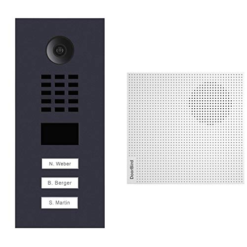 doorbird–Kit d2103V-ral7016+ a1061W–Videoportero (IP 3sonnettes + Timbre