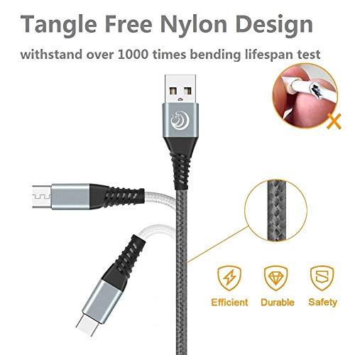 Yosou Micro USB Kabel [3Pack 2M] Ladekabel Android Nylon Handy Schnellladekabel Datenkabel für Samsung Galaxy S7 S6 S5 J7 J5 Note 5, Huawei, HTC, Sony, Tablets, Xiaomi, HTC, Motorola, Nokia, PS4