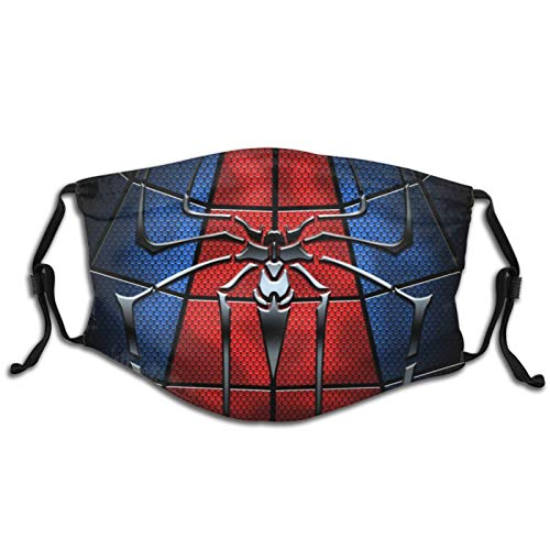 Superhero Spider-Man Blue Red Logo Mouth Cover Reusable Kids Childern Boy Girl Face Mask Washable with 2 Filters Adjustable Made In USA