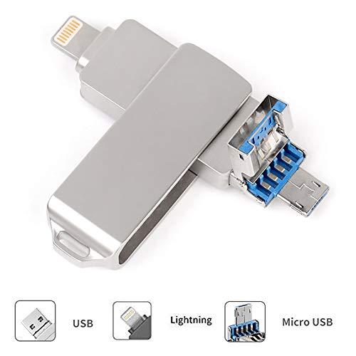 USB Stick 64GB für iPhone - USB Speicher Phone Speichererweiterung - USB 3.0 Externer Speicherstick Flash Laufwerk Drive, für iOS Andriod Computer Laptop PC