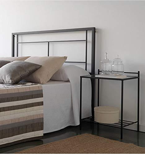 Cabecero de forja Carla - Negro 27, Cabecero para colchón de 150 cm