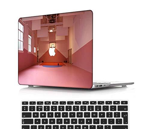 NEWCENT MacBook Pro 13' Retina Funda,Plástico Ultra Delgado Ligero Cáscara Cubierta EU Teclado Cubierta para MacBook Pro 13 Pulgadas Sin CD-ROM/Táctil(Modelo:A1502/A1425),Serie Rosa 0229