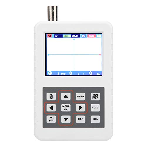 Osciloscopio Digital, Osciloscopio Portátil, Osciloscopio Abs, Pantalla Lcd de 2,4 Pulgadas Con Sonda A Juego Dso Fnirsi Pro 5M 20Msps 5V