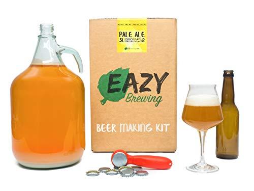 Eazy Brewing®Kit de elaboración de cerveza de 5 litros - Cerveza rubia (Pale Ale) - Caja de regalo para preparar su propia cerveza artesanal – Instrucciones en Español