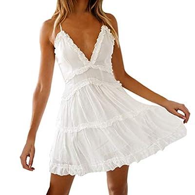 Muranba Womens Dresses Fashion Summer Pure Sheath Slip Evening Dress Sundress Mini Dress