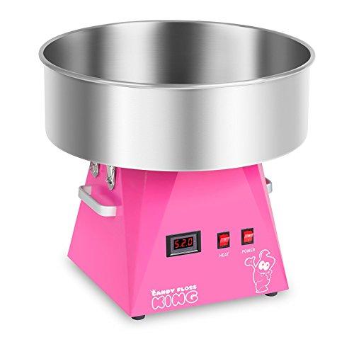 Royal Catering RCZK-1030-W-R Máquina de Algodón de Azúcar Industrial (Ø 52 cm, 1030 W, 1 unidad / 30 s, Acero Inoxidable) Rosa