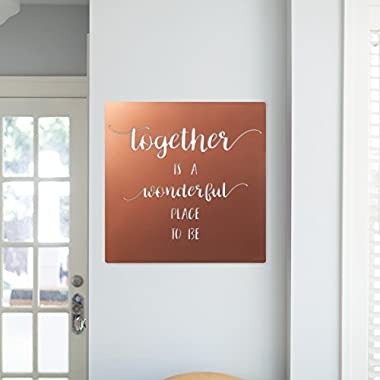 Inspirational Wall Sign Metal Laser Cut 24 Inches Copper Together is a Wonderful Place to Be