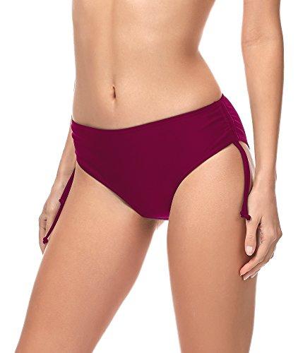 Merry Style Slip Bikini Pezzo sotto Costume MSVR2 (Borgogna (5288), 44)