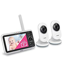 """commercial VTech VM350-2 5 Baby monitor with 5 inch screen"""", long range, infrared night vision Invision, 2… double baby monitor 4"""