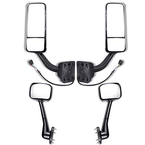 Review Of ZENITHIKE Truck Tow Mirrors with 2 Pairs Driver and Passenger Side Chrome Housing Truck Ho...