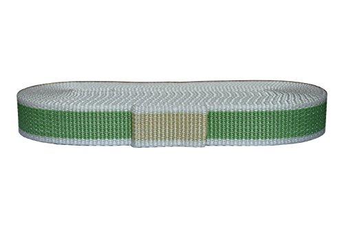 Corderie Italiane 006041832 Cintino per tapparelle, Colore Beige/Verde Chiaro, in Polipropilene, 22 mm, 5,5 mt