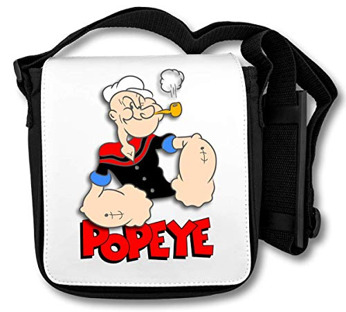 Popeye The Sailor Red Logo Schultertasche