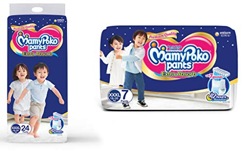 MamyPoko Pants Extra Absorb Diapers Monthly Pack, Small (Pack of 123)...