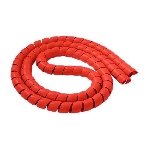 uu19ee 10 mm / 14 mm Espiral Alambre Organizador Envoltura Tubo ignífugo Manga de Cable Espiral Bandas diámetro Carcasa Tubo