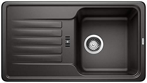 BLANCO 526078 FAVOS - Fregadero de cocina, color negro