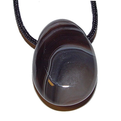 Botswana Achat Anhänger Trommelstein flach ca. 30 x 20 mm mit Bohrung: ca 2,5 mm schöne naturfarbene Maserung.(4206)