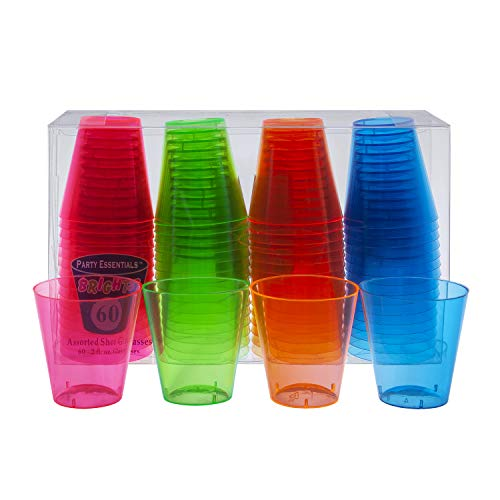 Party Essentials Shooter Glasses, Pack of 60
