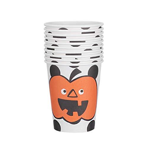 DOITOOL Halloween Party Tassen Kürbis Gesicht Einweg Partyzubehör 20St