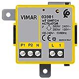 Vimar 03981 Modulo relè connesso IoT con uscita NO, per lampade ad incandescenza, LED, fluorescenti, trasformatori, controllo da remoto, doppia tecnologia Bluetooth e Zigbee, Grigio